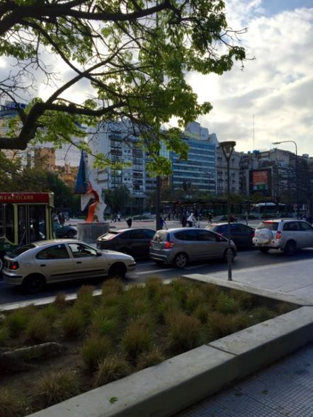 Wide boulevards in Buenos Aires