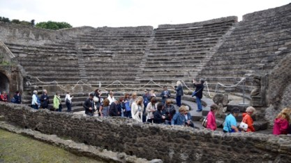 The uncovered amphitheatre