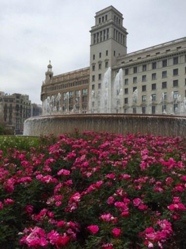 Fountain in a city square