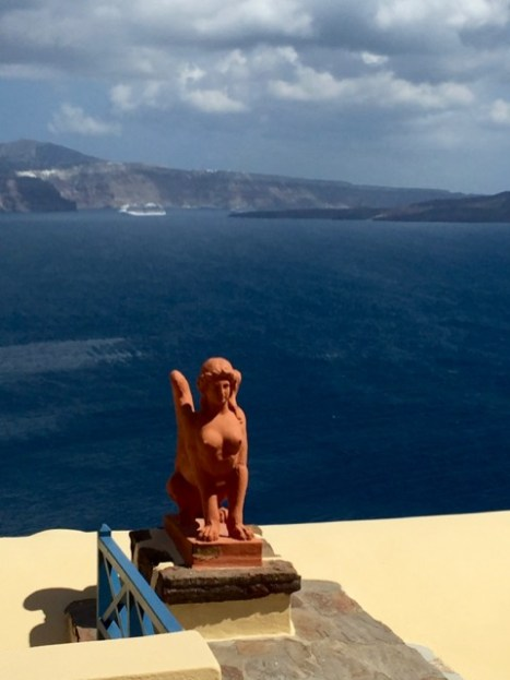 Interesting statue looking over the ocean - well, with back to ocean.