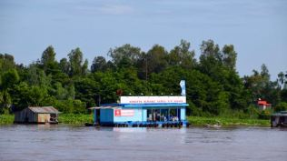 A fuel station for the busy water traffic.