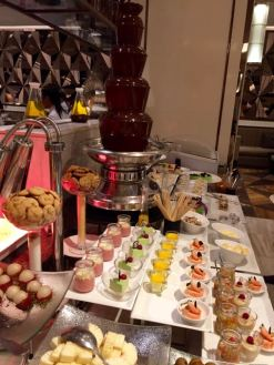 The dessert buffet was less than well stocked on our departure
