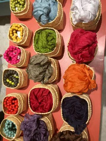 Scarves for sale at Raffles
