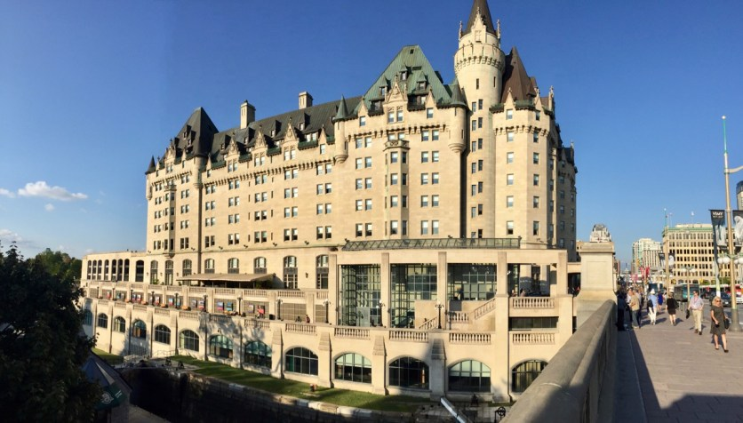 "Now this is a nice ""tent"" - the Fairmont Chateau Laurier."
