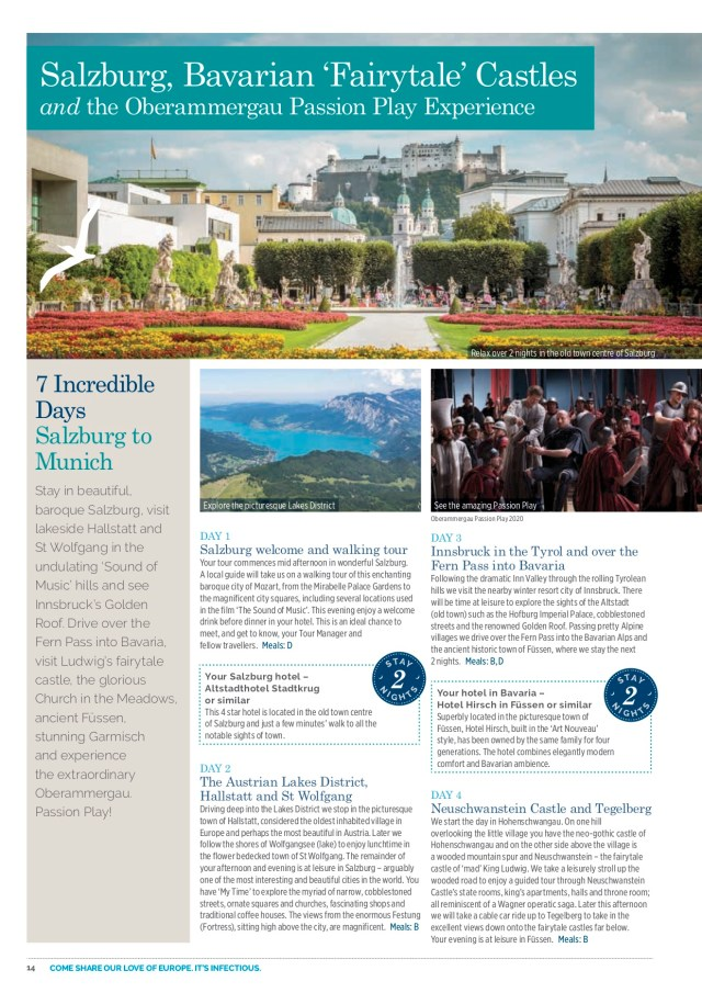 Albatross Tours_Oberammergau 2020_Salzburg Bavarian Fairytale Castles and the Oberammergau Passion Play Experience