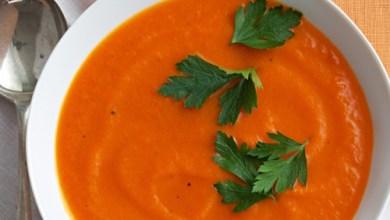 Photo of شوربة الجزر بالبرتقال لذيذه وشهية