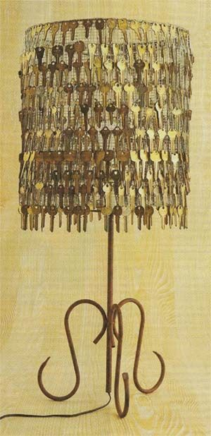 ديكور من المفاتيح القديمة