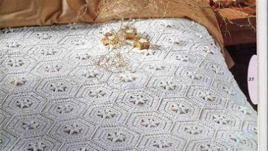 Photo of مفرش كروشية سداسى الوحدات مع الباترون Mattress crochet with Pattern