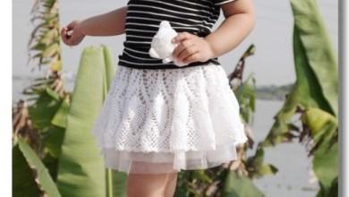 Photo of تنورة ( جيبة ) كروشيه لطفلتك