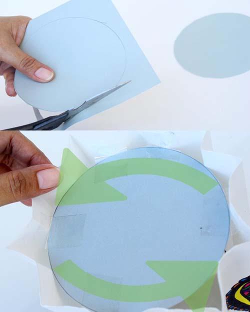 طريقة عمل قاعدة فانوس من الورق
