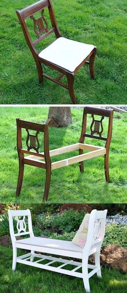 إعادة استخدام كرسى خشب قديم
