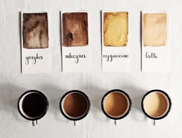 درجات ألوان القهوة