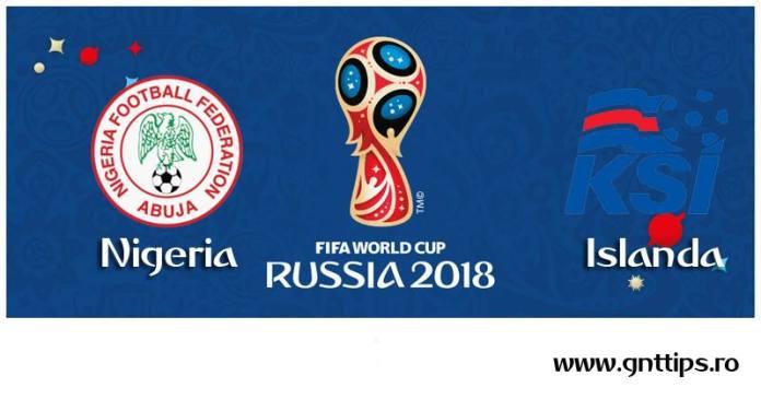 Ponturi fotbal - Nigeria - Islanda - Campionatul Mondial - Grupa D - 22.06.2018