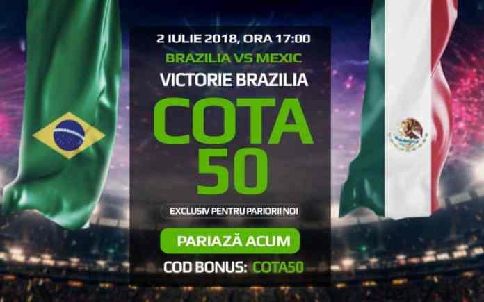 Pariaza 10 ron pe Brazilia si poti incasa 500 RON