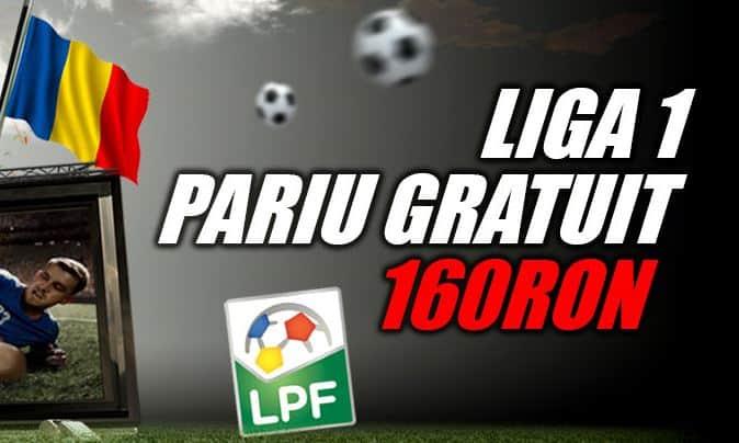 4 X 40 RON pariu gratuit pentru Liga I (9-12 noiembrie)