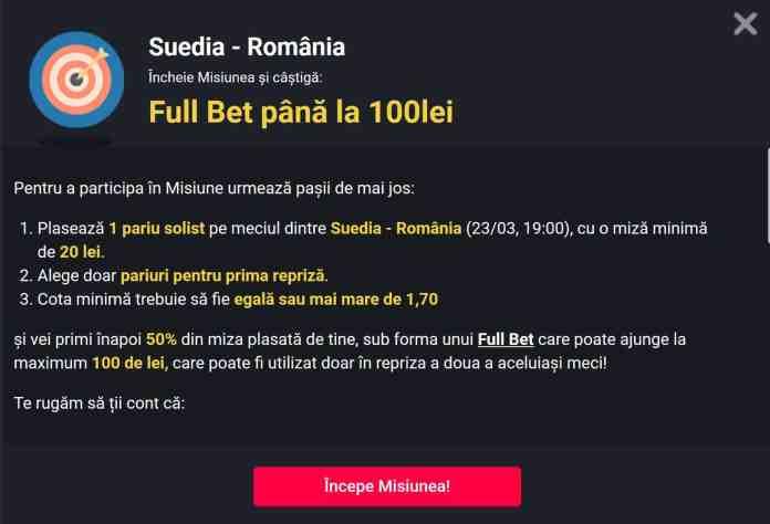 Suedia vs Romania 3 promotii