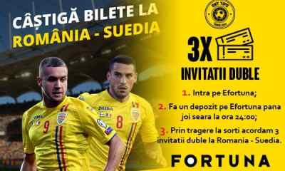 Castiga bilete la meciul Romania - Suedia de pe National Arena