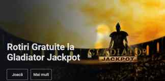 50 de rotiri gratuite la Gladiator