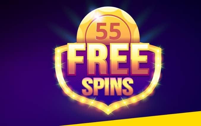 55 de rotiri gratuite la Fortuna