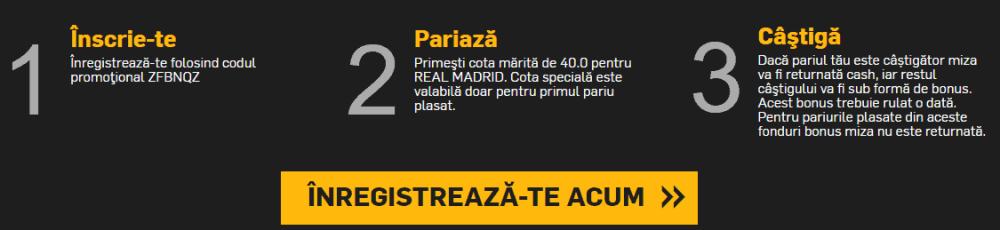 Cota speciala pentru Real Madrid