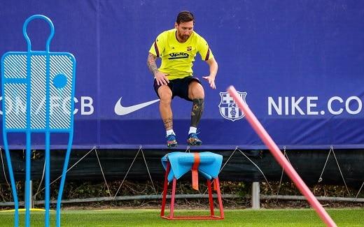 Cote pariuri speciale Liga Campionilor 2020 -Lionel Messi la antrenament - sursa foto facebook