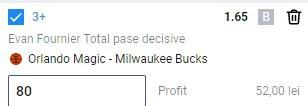 Ponturi NBA Bucks Magic