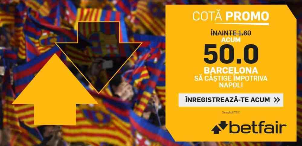 Cota 50.00 pentru Barcelona