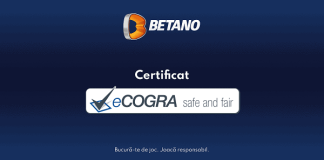 BETANO acreditata internationala eCOGRA Safe and Fair