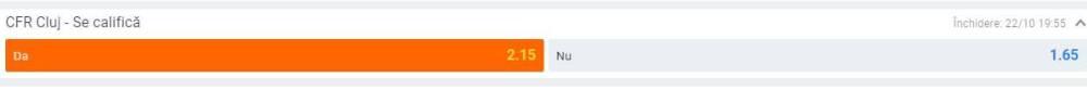 Prezentare cote calificare CFR Cluj Betano