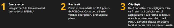 Cota 30.00 pentru Barcelona