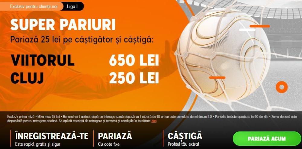 Cote speciale 888 in Viitorul vs CFR Cluj