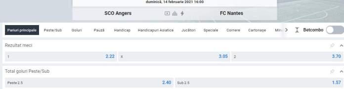 Prezentare cote Betano - Angers vs Nantes - Ligue 1