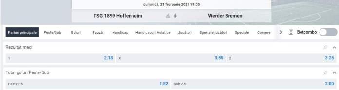 cote oferta betano - hoffenheim vs werder bremen - bundesliga