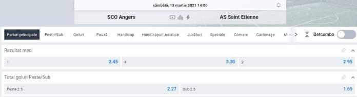 oferta betano - prezentare cote angers vs st etienne - ligue 1