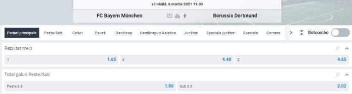 oferta betano - cote bayern munchen vs dortmund