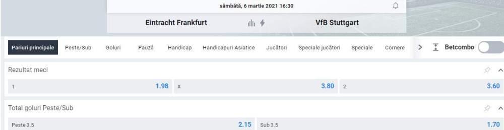 oferta betano - cote frankfurt vs stuttgart