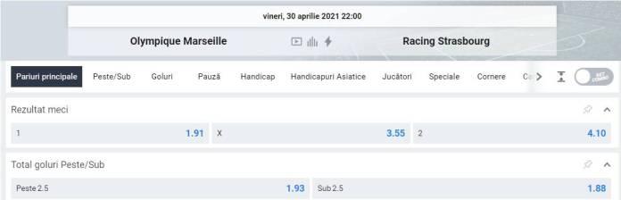 Ponturi pariuri Marseille vs Strasbourg - Ligue 1