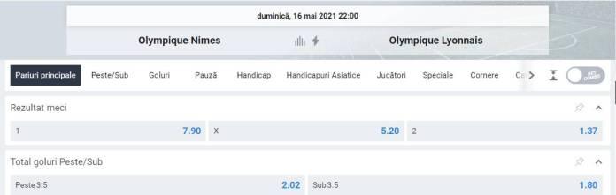 Ponturi pariuri Nimes vs Lyon - Ligue 1