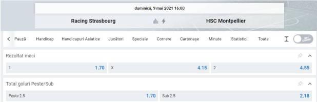 Ponturi pariuri Strasbourg vs Montpellier - Ligue 1