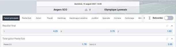 Ponturi pariuri Angers SCO vs Lyon