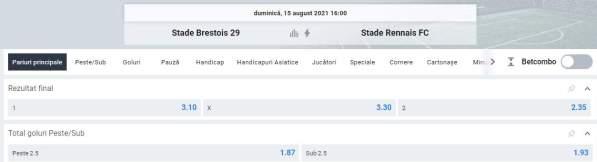 Ponturi pariuri Brest vs Stade Rennais