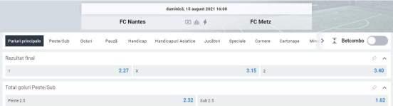 Ponturi pariuri Nantes vs Metz
