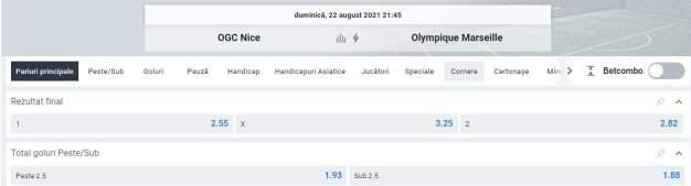 Ponturi pariuri OGC Nice vs Marseille