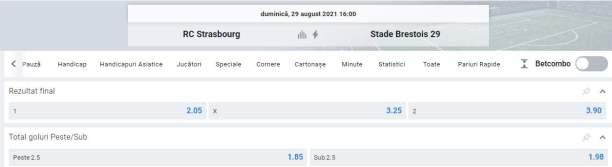 Ponturi pariuri Strasbourg vs Brest