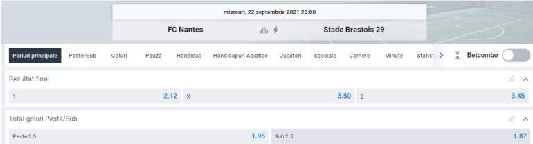 Ponturi pariuri FC Nantes vs Brest