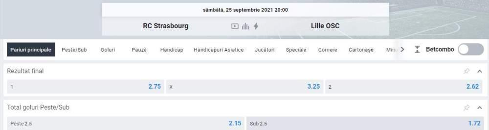 Ponturi pariuri Strasbourg vs OSC Lille