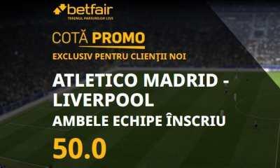 Cota marita la Atletico Madrid - Liverpool