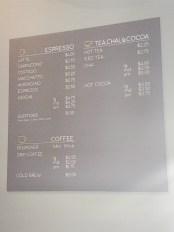 Publick Coffee - Drink Menu