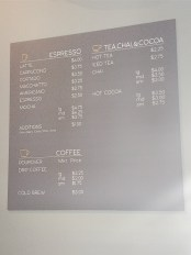 Publick Coffee - Drink Menu
