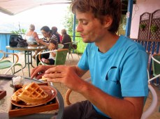 His waffles weren't bad either